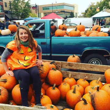 Jackie with Pumpkins